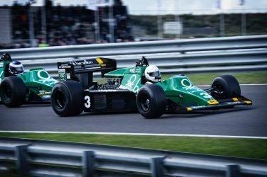 green formula 1 car